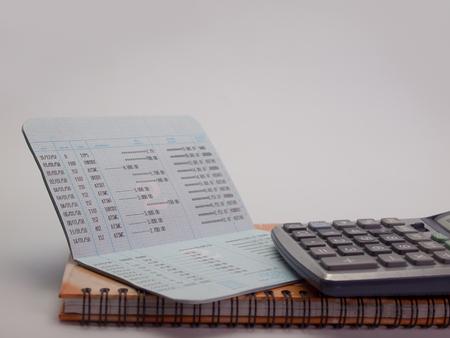 accounting records: banco cuenta con libreta. (Ver con espacio de copia)