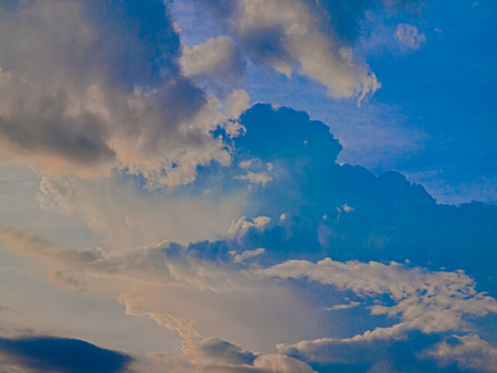 Sky drifting away in a light breeze ,Clouds in the sky background.