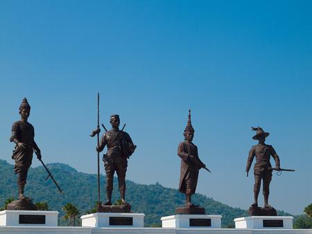 patronage: PRACHUAP KHIRI KHAN, THAILAND - December 11: Tourists visit Rajabhakti Park Foundation Under the Royal Patronage of His Royal Highness Crown Prince on December 11, 2016 in Prachuap Khiri Khan, Thailand.