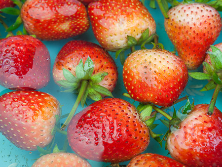 Strawberry Fruit Health , Floating on the water.