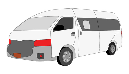 Mini Van Vehicle isolated on white  background, vector illustration. Stock Vector - 88539006