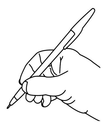 손에 펜을 들고, 사업가입니다. 벡터.