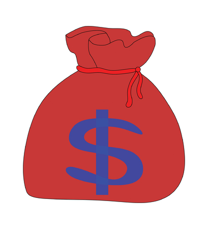 money sack: Money bag , Vector illustration.