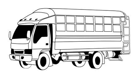 ローカル乗客トラック アイコン。
