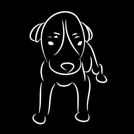 Cute puppy ,Vector image.