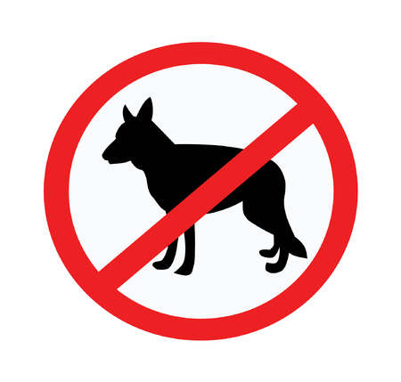 No dogs or pets allowed illustration.