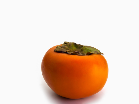 Close Up Persimmon fruit , isolated on white background. Stock Photo