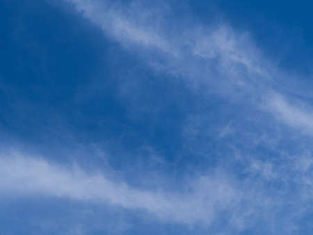 blue sky background with tiny clouds nature. Stock Photo