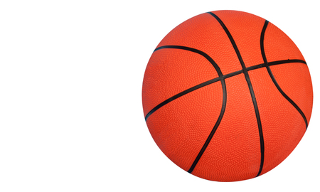 Basketball isolated on white background. (with free space for text) Imagens