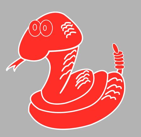 Snake, vector illustration.
