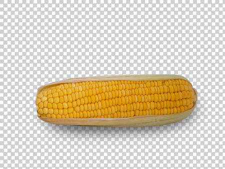 Sweet corn isolated on white background. (clipping path) Stok Fotoğraf