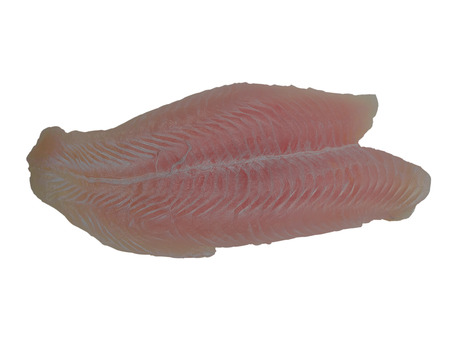 Fish fillet  isolated on white background. (clipping path)