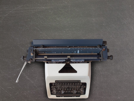 Top view Old vintage typewriter. (with free space for text) Reklamní fotografie