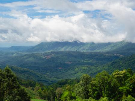 Mountains and sky in Phu Suan Sai Naiton Prk , Loei province Thialand. Archivio Fotografico - 106963907