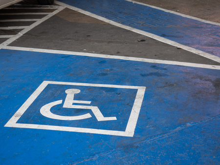 Logos for disabled on parking. (special car parking area)