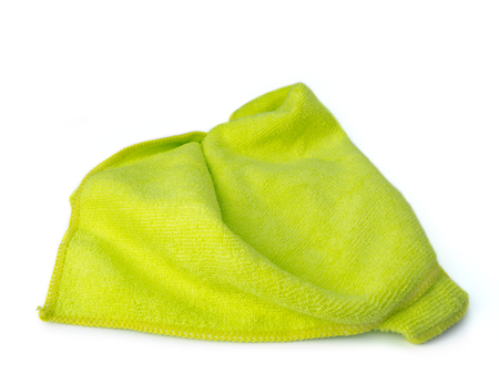 Microfiber Cleaning Cloth isolated on white background.