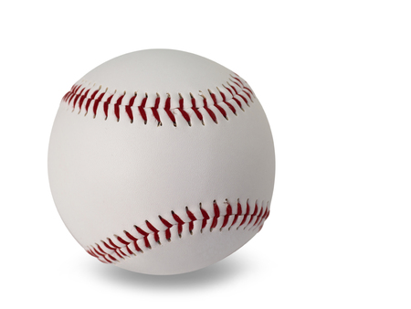 baseball isolated on white background. (This has clipping path) Imagens