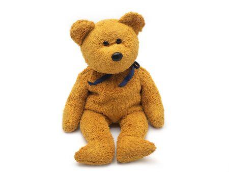 poupée ours en peluche isolé sur fond blanc. Banque d'images