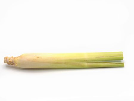 Fresh lemongrass isolated on white background. Banque d'images