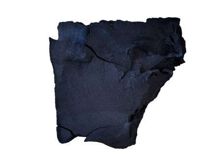 raw black coal isolated on white background. (This has clipping path) 写真素材
