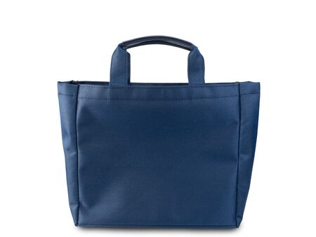 blue shopping bag isolated on white background. (This has clipping path)