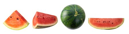 The collection of watermelon on a white background.