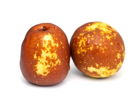 Chocolate jujube , asian fruit on white background. (selective focus) 版權商用圖片