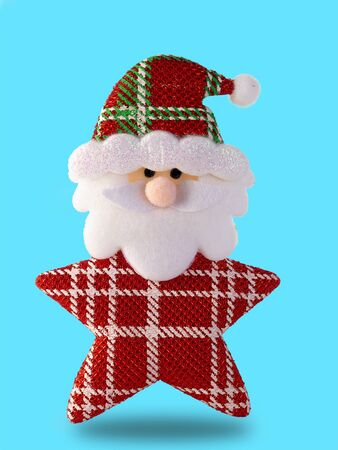 Santa claus isolated on blue background. (This has clipping path)