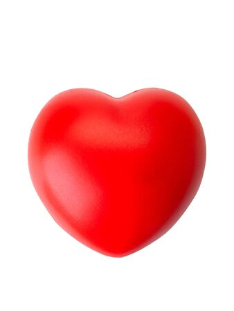 red heart isolated on white background. (This has clipping path)