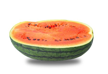 Ripe and juicy watermelons isolated on white background. (This has clipping path)
