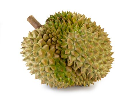 Fresh durian fruit isolated on white background. (This has clipping path) 写真素材