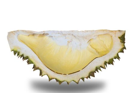 Fresh durian fruit on white background. (This has clipping path) 写真素材