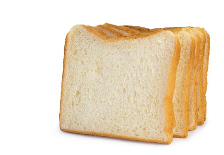 sliced bread isolated on white background. (This has clipping path)