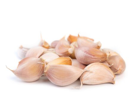 Fresh garlic isolated on white background.(Health food)