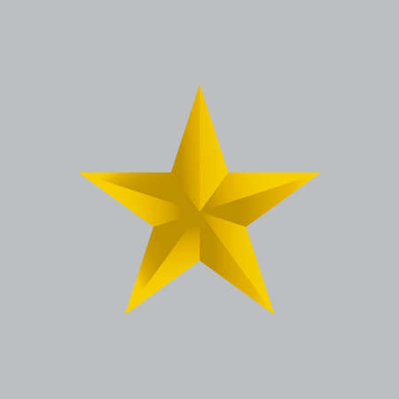 Vector illustration golden yellow stars.