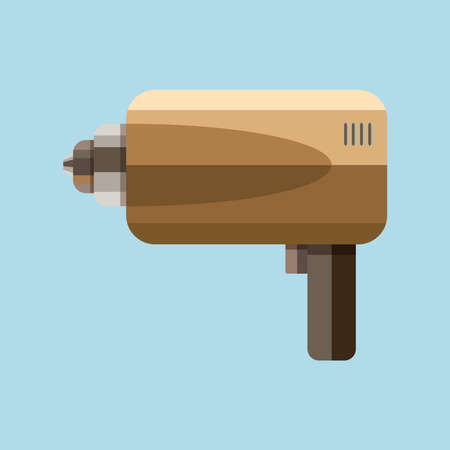 Vector Illustration of Electric drill.  イラスト・ベクター素材