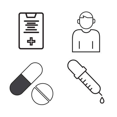 symbol icon Medical vector illustration.