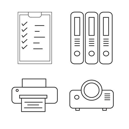 symbol icon Office equipment vector illustration.