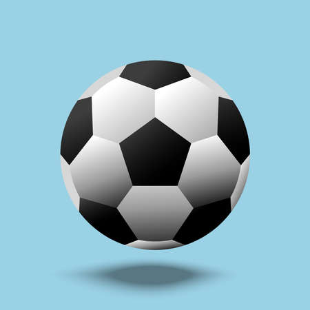 Football ball soccer ball vector template illustration.