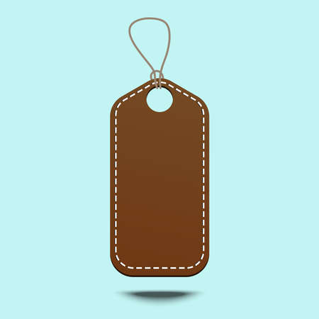 Blank tag tied for hang on product for show price or discount.