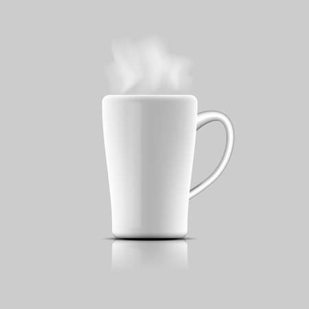 Coffee mug vector on white background.  イラスト・ベクター素材