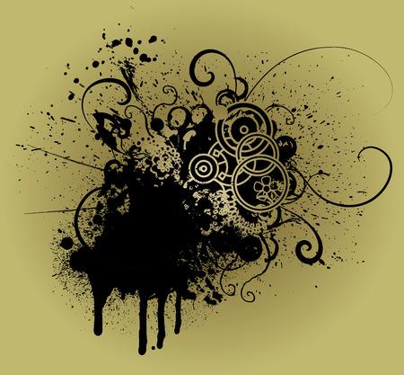 grunge vector element