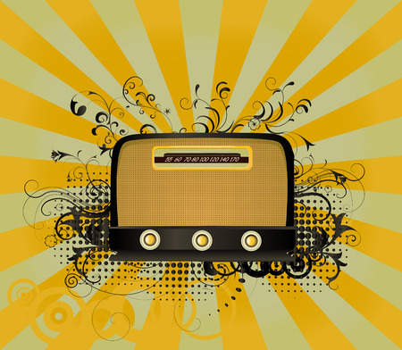 old radio vector Illustration