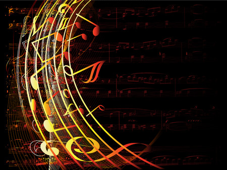 musical background-vector illustration