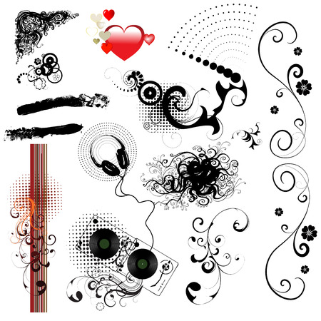 decorative elements-vector Illustration