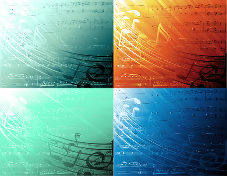 abstract musical background Illustration