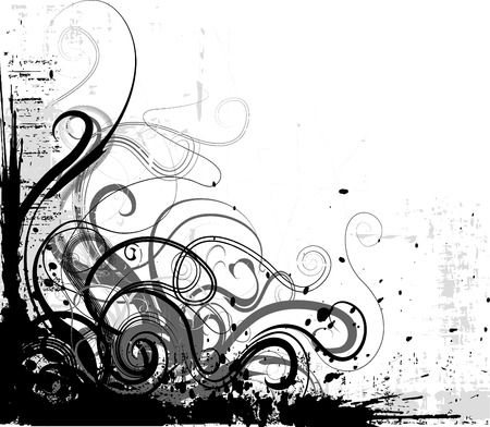 grunge corner vector Illustration