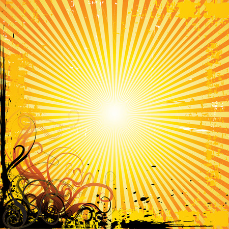 sunray vector background Illustration