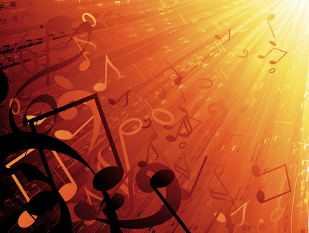 flying musical notes Illustration