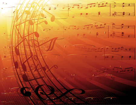 music notes-vector background